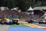 Daniel Ricciardo (Renault), Lance Stroll (Racing Point) und George Russell (Williams)