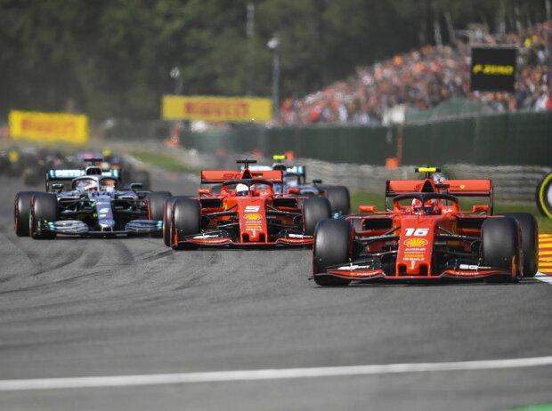 Charles Leclerc, Sebastian Vettel, Lewis Hamilton, Valtteri Bottas