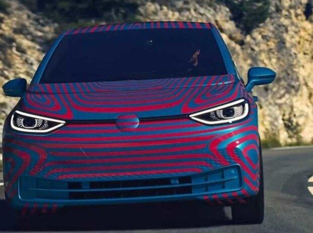Volkswagen ID.3 (geleakte BIlder in neuer Tarnfolie, 6. Mai 2019)