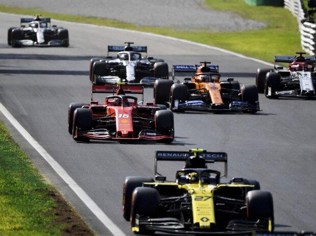 Nico Hülkenberg, Charles Leclerc, Carlos Sainz, Kimi Räikkönen, Lewis Hamilton, Valtteri Bottas