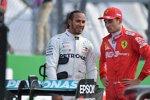 Charles Leclerc (Ferrari) und Lewis Hamilton (Mercedes)