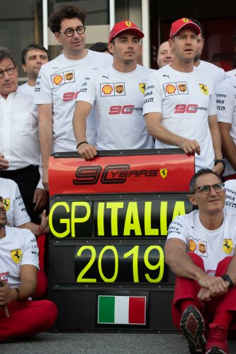 Mattia Binotto Charles Leclerc Sebastian Vettel Ferrari Scuderia Ferrari Mission Winnow F1CIP CIP Moto3 ~Mattia Binotto, Charles Leclerc (Ferrari) und Sebastian Vettel (Ferrari) ~