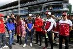 Daniil Kwjat (Toro Rosso), Pierre Gasly (Toro Rosso), Charles Leclerc (Ferrari), Antonio Giovinazzi (Alfa Romeo) und Kimi Räikkönen (Alfa Romeo)
