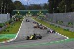 Daniel Ricciardo (Renault), Lance Stroll (Racing Point), Carlos Sainz (McLaren) und Alexander Albon (Red Bull)