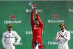 Valtteri Bottas (Mercedes), Charles Leclerc (Ferrari) und Lewis Hamilton (Mercedes)