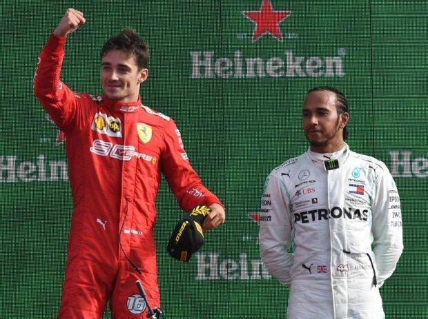 Charles Leclerc, Valtteri Bottas, Lewis Hamilton