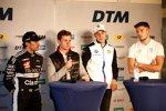 Pietro Fittipaldi (WRT ), Jonathan Aberdein (WRT ), Sheldon van der Linde (RBM-BMW) und Jake Dennis (R-Motorsport Aston Martin)