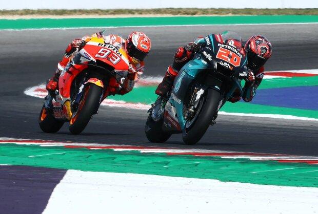 Fabio Quartararo Marc Marquez  ~Fabio Quartararo (Petronas Yamaha) und Marc Marquez (Honda) ~