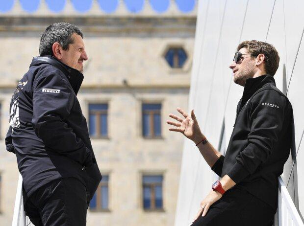Günther Steiner und Romain Grosjean