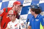 Andrea Dovizioso (Ducati) und Alex Rins (Suzuki)