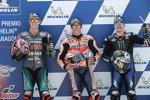 Marc Marquez (Honda), Fabio Quartararo (Petronas Yamaha) und Maverick Vinales (Yamaha)