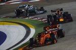 Sebastian Vettel (Ferrari), Max Verstappen (Red Bull) und Valtteri Bottas (Mercedes)