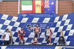Marc Marquez (Honda), Andrea Dovizioso (Ducati) und Jack Miller (Pramac)