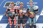 Brad Binder (KTM Ajo), Jorge Navarro (Speed Up) und Alex Marquez (Marc VDS)