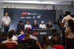 Lance Stroll (Racing Point), Kimi Räikkönen (Alfa Romeo), Daniil Kwjat (Toro Rosso), Valtteri Bottas (Mercedes) und Kevin Magnussen (Haas)
