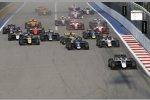 Start der Formel 2 in Sotschi 2019: Nyck de Vries (ART) führt