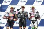 Luca Marini (VR46), Brad Binder (KTM Ajo) und Iker Lecuona (American Team)