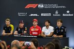 Nico Hülkenberg (Renault), Max Verstappen (Red Bull), Charles Leclerc (Ferrari), Carlos Sainz (McLaren) und George Russell (Williams)