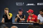 Nico Hülkenberg (Renault), Max Verstappen (Red Bull), Charles Leclerc (Ferrari) und Carlos Sainz (McLaren)