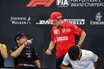 Max Verstappen (Red Bull), Charles Leclerc (Ferrari) und Carlos Sainz (McLaren)