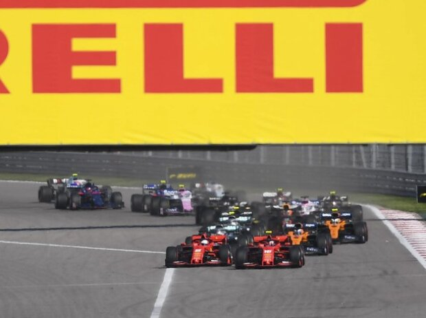 Sebastian Vettel, Charles Leclerc, Start, Sotschi