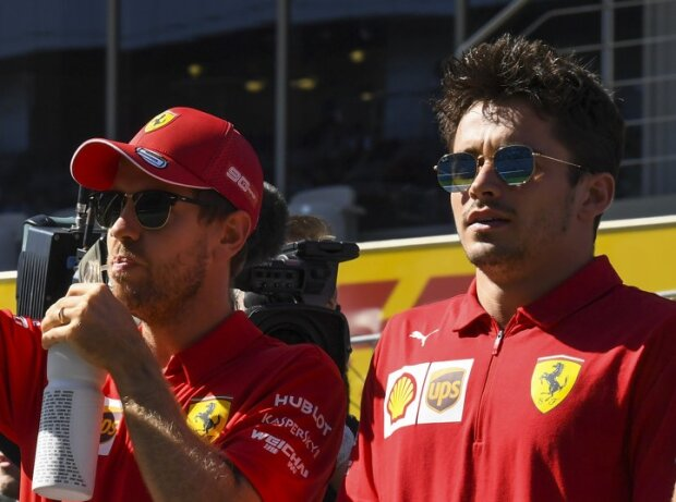 Kimi Räikkönen, Antonio Giovinazzi, Sebastian Vettel, Charles Leclerc