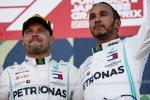Lewis Hamilton (Mercedes) und Valtteri Bottas (Mercedes)