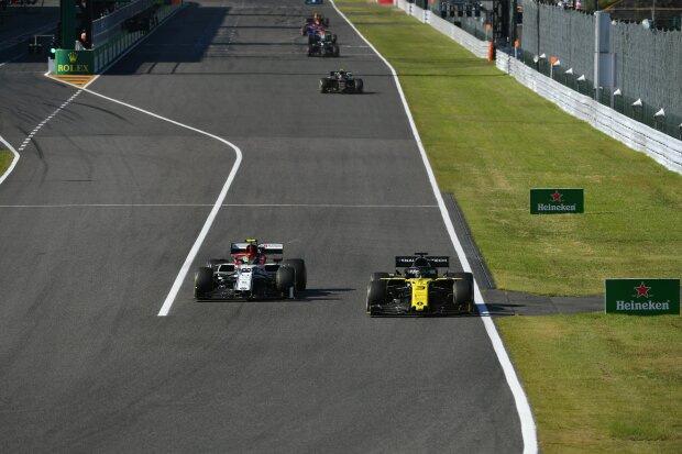 Daniel Ricciardo Antonio Giovinazzi  ~Daniel Ricciardo (Renault) und Antonio Giovinazzi (Alfa Romeo) ~