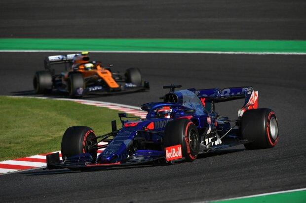 Daniil Kwjat Lando Norris Toro Rosso Red Bull Toro Rosso Honda F1McLaren McLaren F1 Team F1 ~Daniil Kwjat (Toro Rosso) und Lando Norris (McLaren) ~