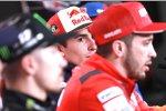 Maverick Vinales (Yamaha), Marc Marquez (Honda) und Andrea Dovizioso (Ducati)