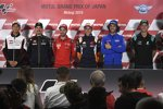 Maverick Vinales (Yamaha), Andrea Dovizioso (Ducati), Marc Marquez (Honda), Alex Rins (Suzuki) und Fabio Quartararo (Petronas Yamaha)