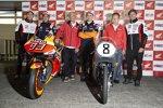 Takaaki Nakagami (LCR), Marc Marquez (Honda), Jorge Lorenzo (Honda) und Cal Crutchlow (LCR)