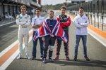 Oliver Turvey (NIO), Alexander Sims (BMW-Andretti), Sam Bird (Virgin), Oliver Rowland (Nissan e.dams) und James Calado (Jaguar)