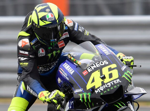 Zweifinger-Bremstechnik: Valentino Rossi