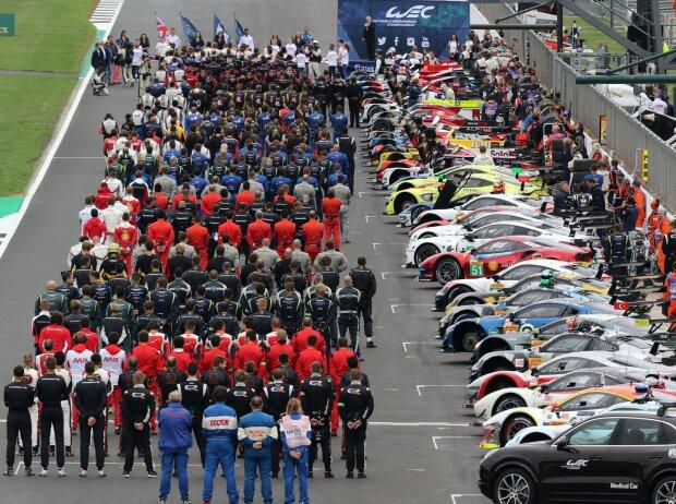 WEC-Startaufstellung, 6h Silverstone 2018