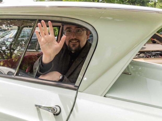 Roland Hildebrandt im Citroën Ami 6