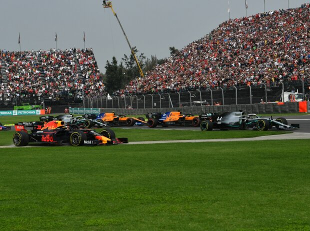 Lewis Hamilton, Alexander Albon, Carlos Sainz, Lando Norris, Max Verstappen