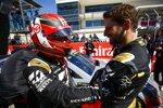 Romain Grosjean (Haas), Kevin Magnussen (Haas) und Tony Stewart