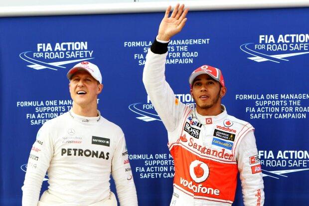 Michael Schumacher Lewis Hamilton Mercedes Mercedes-AMG Petronas Motorsport  F1McLaren McLaren F1 Team F1 ~Michael Schumacher und Lewis Hamilton (Mercedes) ~