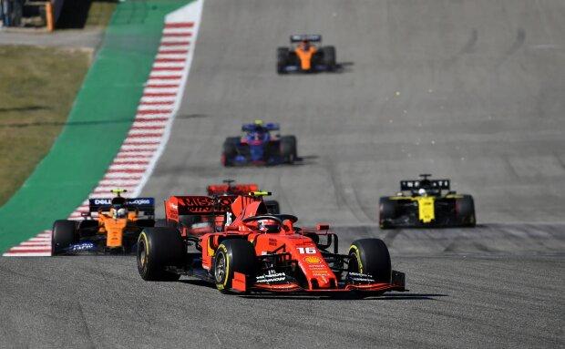 Charles Leclerc Lando Norris Ferrari Scuderia Ferrari F1McLaren McLaren F1 Team F1 ~Charles Leclerc (Ferrari) und Lando Norris (McLaren) ~