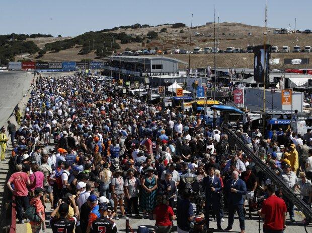 Hektische Betriebsamkeit vor dem IndyCar-Finale 2019 in Laguna Seca