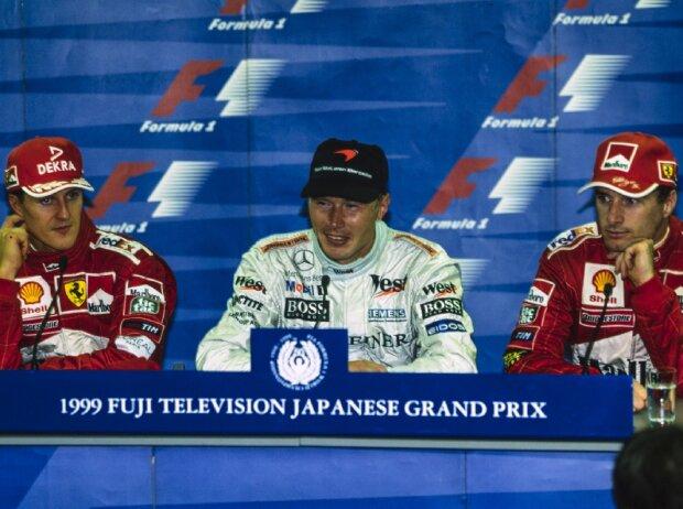 Michael Schumacher, Mika Häkkinen, Eddie Irvine