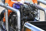 Die zerstörte Yamaha M1 von Valentino Rossi