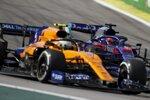 Lando Norris (McLaren) und Daniil Kwjat (Toro Rosso)
