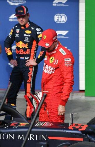 Sebastian Vettel Max Verstappen Ferrari Scuderia Ferrari F1Red Bull Aston Martin Red Bull Racing F1 ~Sebastian Vettel (Ferrari) und Max Verstappen (Red Bull) ~