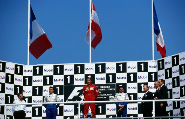 Jean Todt Olivier Panis Gerhard Berger Ferrari Scuderia Ferrari F1 ~Jean Todt, Olivier Panis und Gerhard Berger ~
