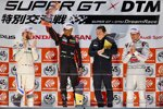 Marco Wittmann (RMG-BMW), Narain Karthikeyan und Loic Duval (Phoenix-Audi)