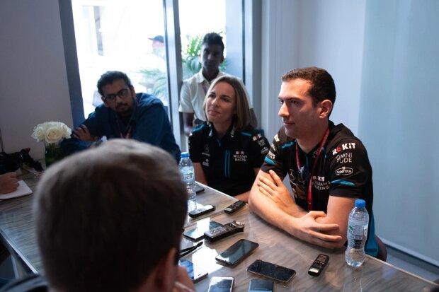Claire Williams Nicholas Latifi Williams ROKiT Williams Racing F1CIP CIP Moto3 ~Claire Williams und Nicholas Latifi ~