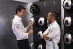 Toto Wolff und Lewis Hamilton (Mercedes)