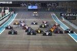 Start zum Formel-2-Hauptrennen in Abu Dhabi 2019